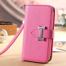 Lady Foldable Genuine Leather Wallet Smart Pouch Women Bag Case Cover For iPhone 6+