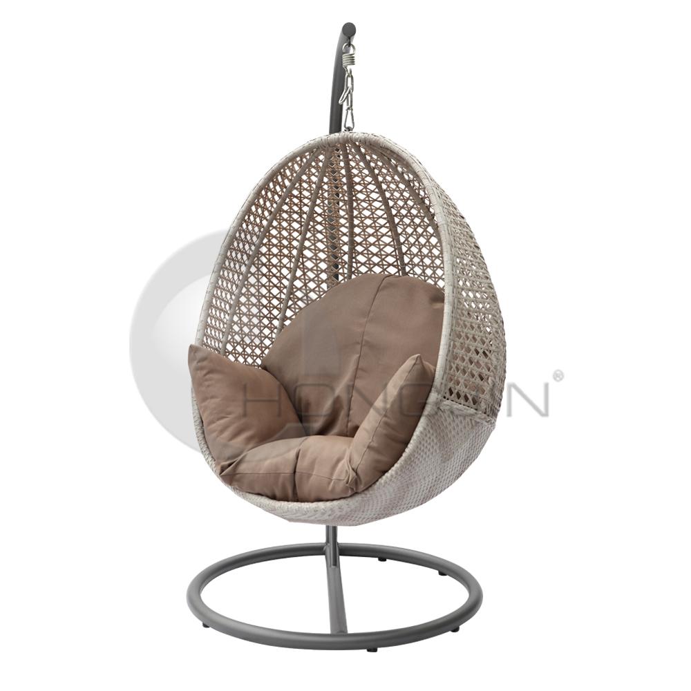 Hongjin Outdoor Patio PE Rattan Hanging Egg Chairs