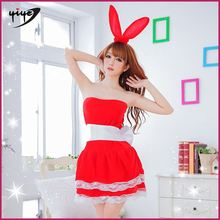 Wholesale new colourful sexy beauty girl christmas costume lingerie