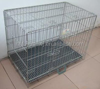 pvc coated commercial folding metal dog cage