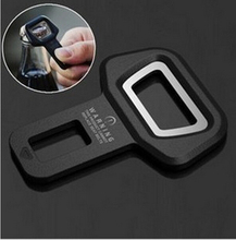 1X Free shipping Car safety belt clip Brand New and High quality Car Seat belt buckle Vehicle-mounted Bottle Opener Dual-use