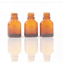 10ml amber flat glass bottle for cosmetic packing