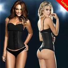 Top quality promotional women fitness latex rubber corset waist