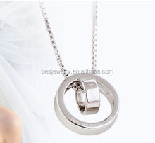 Sterling silver necklace with circle