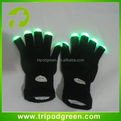 led gloves factory MultiColor Magic Finger Light Up Led Gloves
