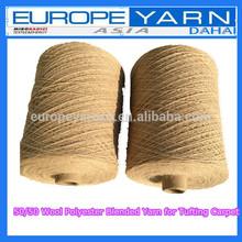 Teñida 50/50 de lana de poliéster blened hilo