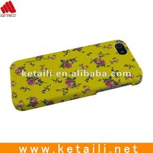 for rubberized iphone case with flower pattern design