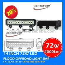 Best hotsale 72w led light bar epistar double row led off road light bar