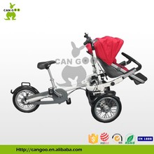 Hot sale specialized parent bicycle foldable stroller bike for mother and baby tricycle