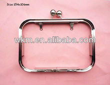 Metal cluch purse frame with beads lock closure