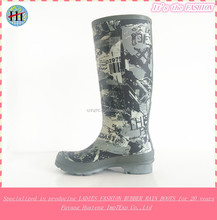Soft Printed Fashion Rubber Boots,Rain Shoes,Rain Boot,Wellies,Gumboots