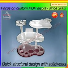 Modern Style Tree Layers Acrylic Skin Products Display Stand Cosmetic Display