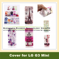 3D Sublimation Custom Cute Animal Phone Case TPU Gel Cases Cover Skin for LG G3 Mini