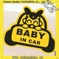 OEM die cut refective sticker car