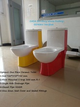 Toilets WC wholesale suppliers one piece siphonic yellow white color toilet