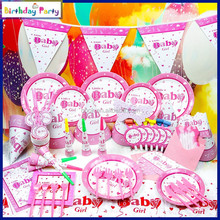 baby girl wholesale paper kids birthday theme party decorations