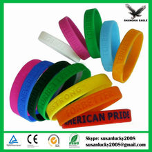 Advertising Thin Silicone Wristband (directly from factory)