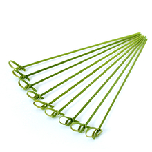 Knotted bamboo fruit sticks / Bamboo skewer 40cm / Bamboo picks for sale