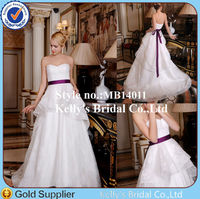charming sweetheart neckline purple sash layer lace fluffy skirt wedding dresses for fat brides