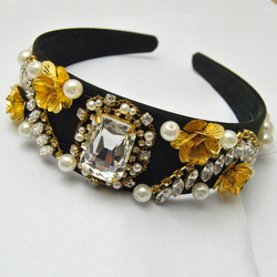 European and American retro baroque model drilling diamond hair hoop headband wholesale