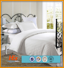 Used Hotel Cotton Stripe Queen or King Bedding Set