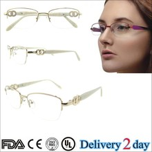 2015 Fashion metal stainless half rim optical eyeglasses frames 2015 diamond eyewear 2015 hot selling eyewear