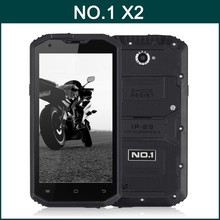 NO.1 X2 Qualcomm MSM8916 Quad Core 5.5 Inch HD Screen Android 4.4 4G LTE IP68 Outdoor Waterproof Rugged Smartphone