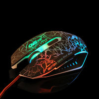 Adjustable 2000 DPI Computer Optical 6D Wireless Gaming Mouse with Multicolor Breath LED Light