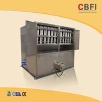 Automatic ice cube machine for vending usage of drinks, bars, food processing