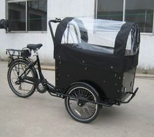 electric 26 inch three wheel bike with front cargo box/kids tricycle factory