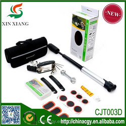 Bicycle tyre repairing tools colour box packaged/bike repairing tools box packaged