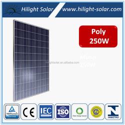 High efficiency pv solar panel 250w, 250 watt solar module, 250w solar modules pv panel