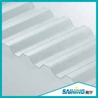 virgin material polycarbonate roofing panels for practical greenhouse