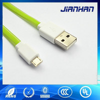 China colorful flat cable,noodle micro usb 5pin cable