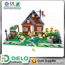 wholesale china merchandise toy farming tractor plastic building blocks house figures and animal DE0083098