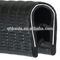 Heat resistant glazing rubber seal strip