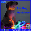 XL Tamaño Collar Para Perros Necklace LED Iluminar Brillar Leopardo Noctilucentes Collar para Seguridad de Animal Casero