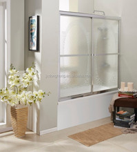 FOCA 92FC shower room with brushed nickel finish frame