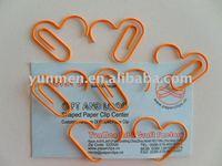 P244 office & school supplies love Heart shaped paper clip