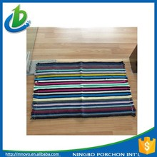 Modern custom design korea floor mat knit cotton carpet
