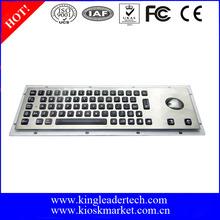 Industrial de acero inoxidable de metal resistente teclado con luz y trackball