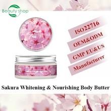 Sakura whitening & nourishing body butter / nourshing body cream private logo