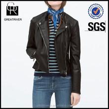 Famous Brand Women PVC Leather Jacket
