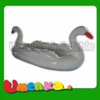 Umenka new design inflatable swan boat for water park use/inflatable water toys/summer game for sale