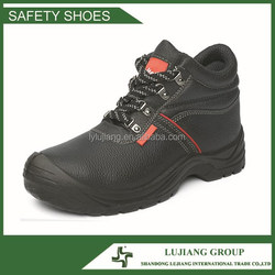 Litchi cow split leather PU outsole safety boots, industrial safety shoes LJ-ZD53