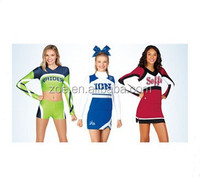 girl sublimation cheer uniforms, 2015 new design full sublimation cheerleading uniform