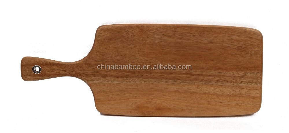 Houten keuken snijplank met handvat, snijplank hout donker-hakken ...