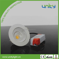 Manufacturer Direct 5W Anti-glare White Frame LED Down Light COB Round or LED Square Downlight
