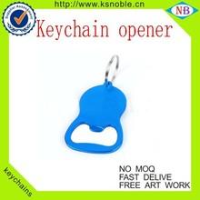 Beer bottle opener/ Metal bottle opener/ blue color keychain opener
