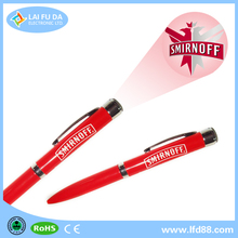 2014 China Manufacturer promotional pen with led light / led light ballpoint pen ball pen with led light
